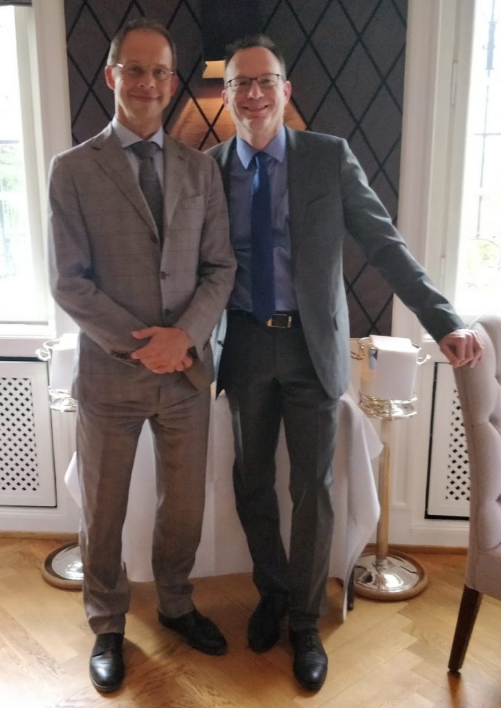 Lars Kolbe, Geschäftsführer der Aqualutum GmbH & Markus Hill (Frankfurter FondsmanagerRunde 2019)